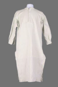 1930's french off-white cotton/ linen smock, lemagasin, le magasin
