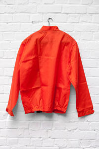 1960's deadstock US nylon orange sport jacket
