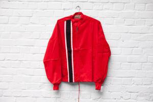 1960's deadstock US nylon red sport jacket