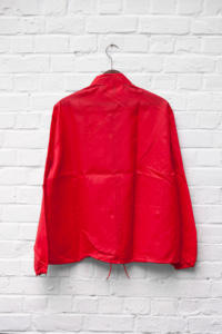 960's deadstock US nylon red TRW sport jacket