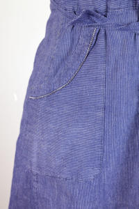 1930's printed linen work apron, lemagasin, le magasin, vintage clothing
