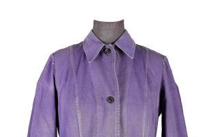 1950's french indigo linen woman atelier coat
