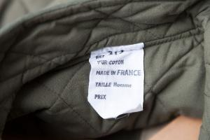 Deadstock 1950's french army quilted jacket