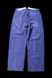 1930's french indigo linen postman pants