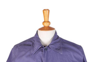1950's french indigo linen light shore jackets, lemagasin, le magasin