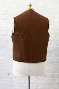 1950's french deadstock cachou mouton vest