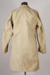1940's french woman beige moleskin coat, lemagasin, le magasin