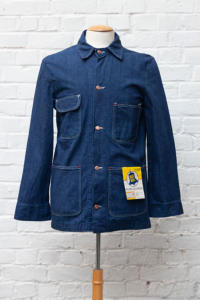 1960's Wrangler Blue Bell Sanforized Denim Chore Work Jacket