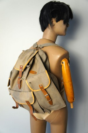 50's olive green Mavet canvas backpack