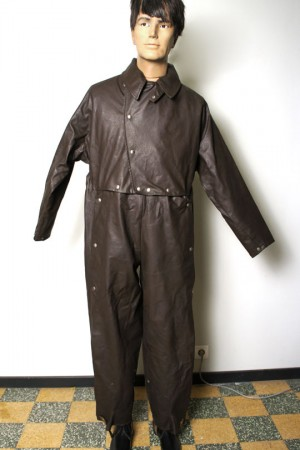 1940's motorcyclist rubber coverall