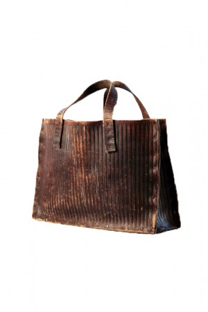 1920's leather tote bag
