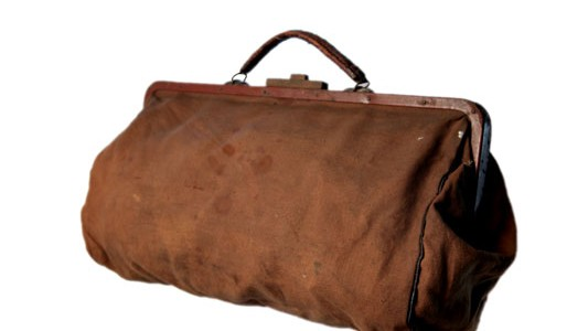 1920's canvas doctor's bag