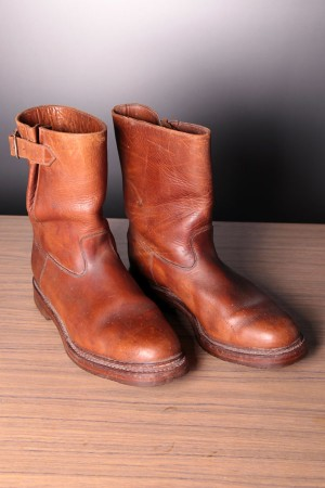 60's british engineer leather boots