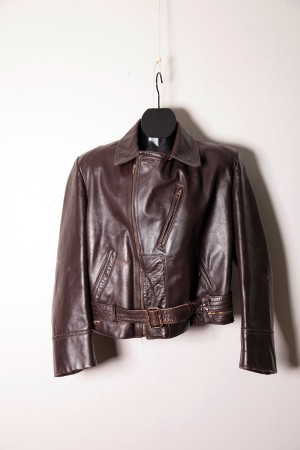 1940's motorcyclist leather jacket