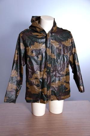 1970's belgian army camo rain coat