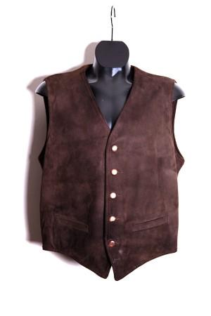 1950's suede & wool vest