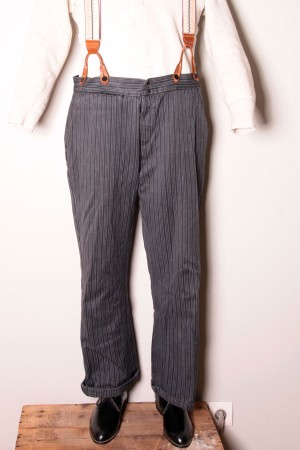 1950's striped work pants