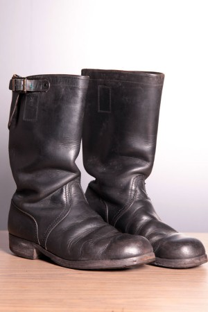 1950's german engineer boots