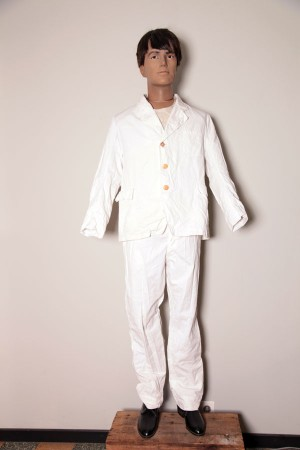1920's white work suit