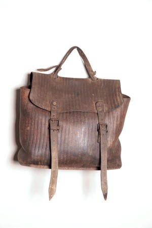 1920's leather work handbag
