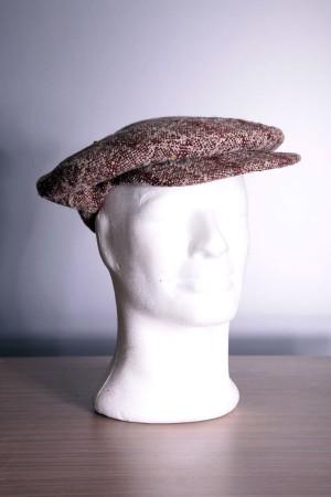 "1920's ""Oxford"" tweed golf cap"
