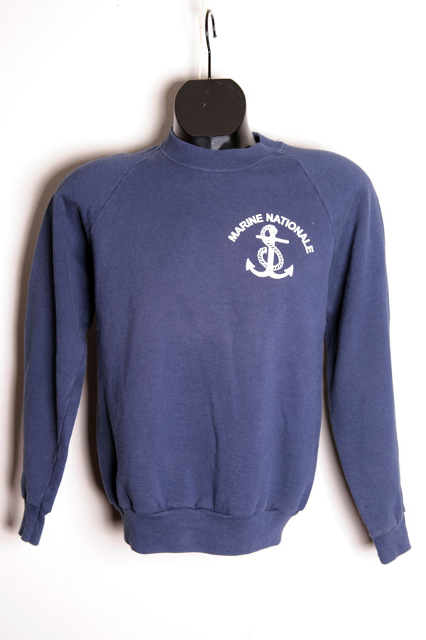 1980 39 s marine nationale sweatshirt. Black Bedroom Furniture Sets. Home Design Ideas