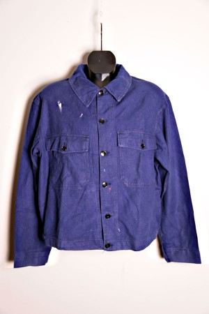 1950′s french faded work jacket (2)