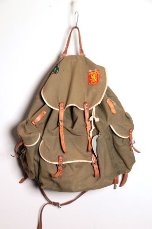 1960's green backpack