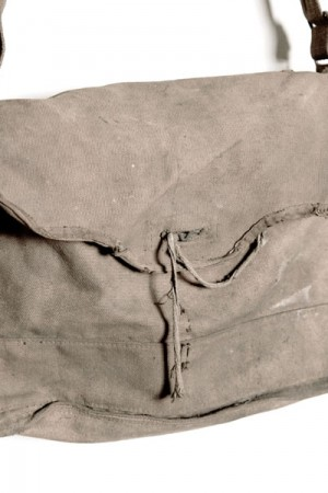 WWII french gas mask bag