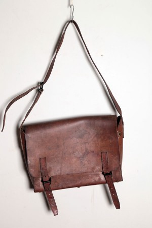 1950's french mailman leather bag