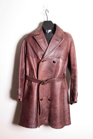1930's motorcyclist leather coat