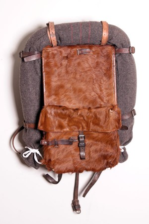 1950's Swiss army cowhide backpack