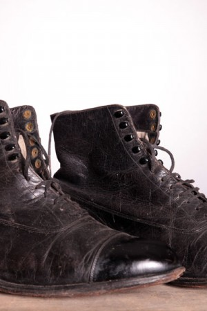 early 1900's black boots