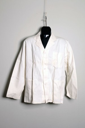 1950's white work jacket