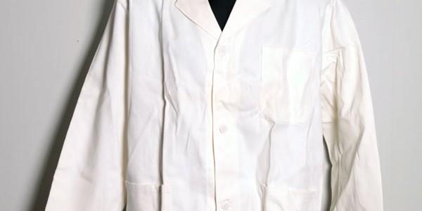 1950's white work jacket