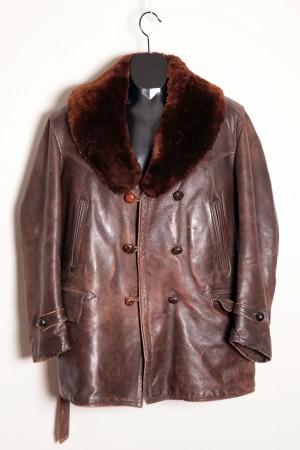 1940's leather mackinaw jacket