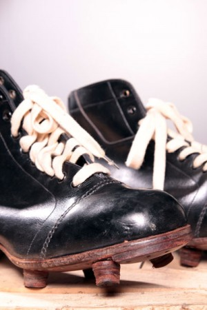 1930's leather soccer shoes