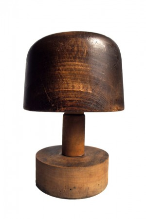 1940's wooden hat blocks