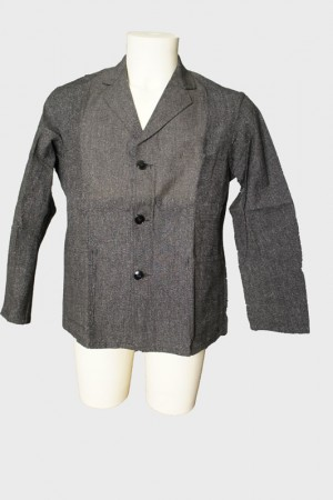 1930's salt & pepper work jacket (big buttons)