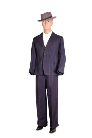 1930's royal-blue pin-striped suit
