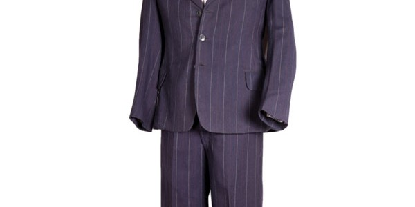 1930's royal-blue pin-striped suit