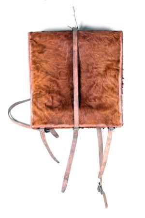 1950′s Swiss army cowhide backpack