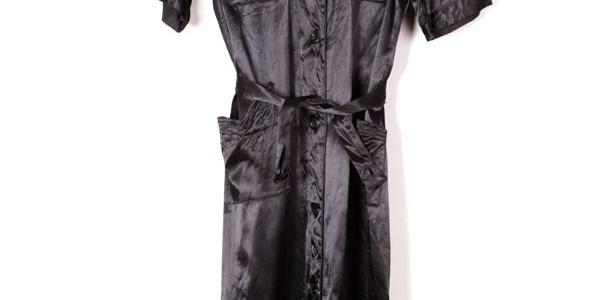 1930's black satin dress