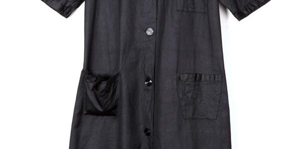 1930's black work dress