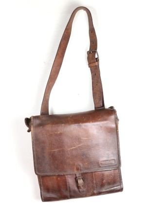 WWI officer leather bag