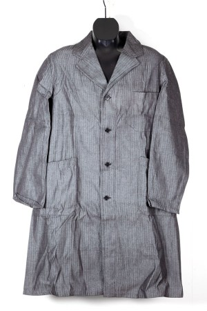 1930's salt & pepper herringbone duster