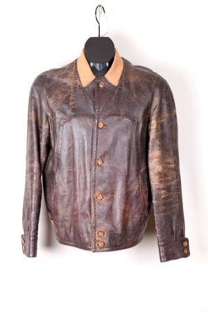 1960's leather cardigan