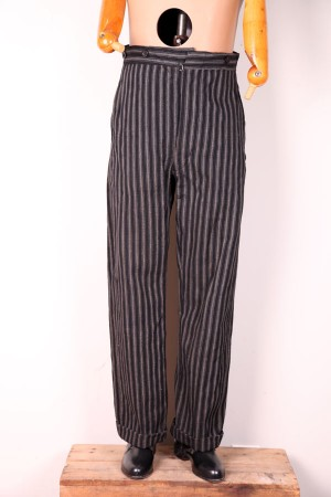 1920's stripped wool pants