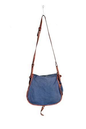 1960's blue canvas hunting bag