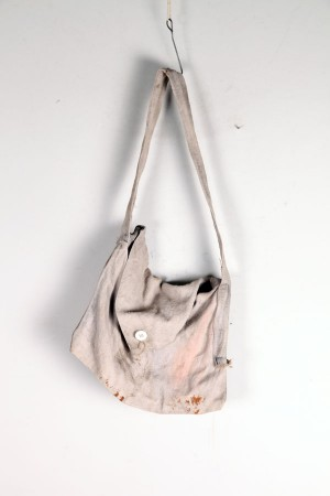 1920's french canvas musette